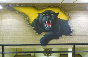 full panther mural