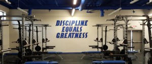 Weight Room Lettering