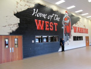 26. West outside gym