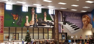 Library Chess Wall