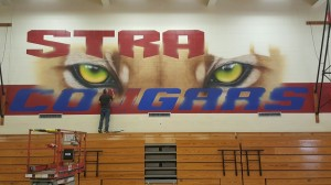 Gym Mural in Progress