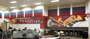 full band hall mural